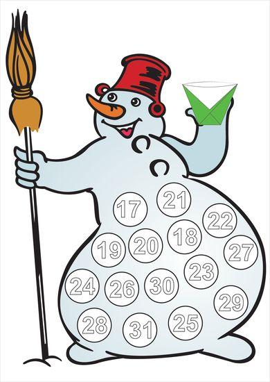 Картинки по запросу календарь ожидания нового года дед мороз