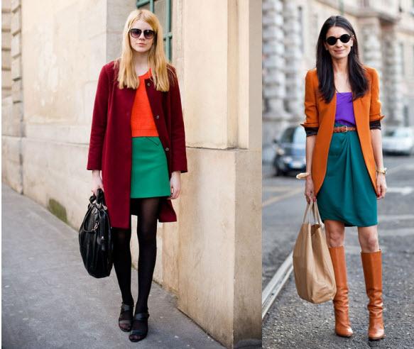 Модный образ: стиль колор блок