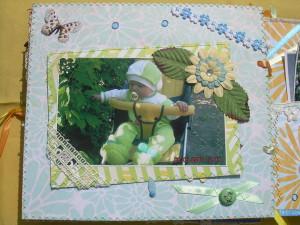 Что подарить ребенку на 1 год. Фотоальбом в стиле скрапбукинг