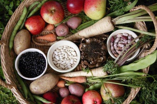 Овощи и бобовые.