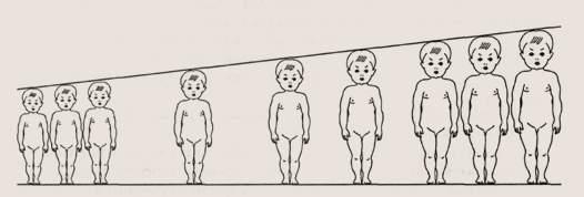 Физическое развитие детей. Процентное распределение детей по росту
