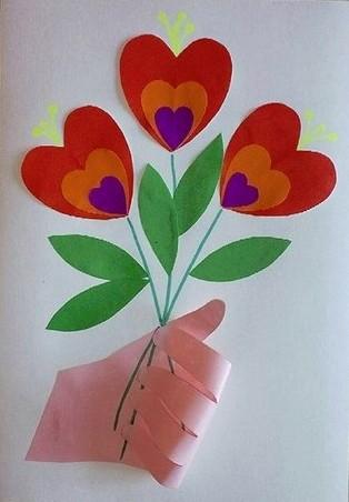 открытка на 8 марта своими руками детский сад