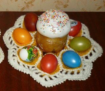подставки для пасхальных яиц крючком