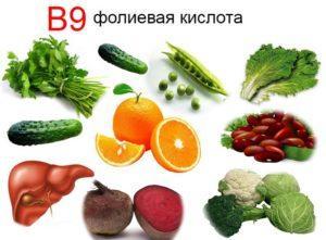 Фолька в продуктах