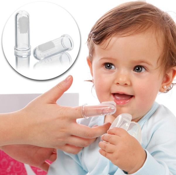 Силиконовая зубная щетка напальчник