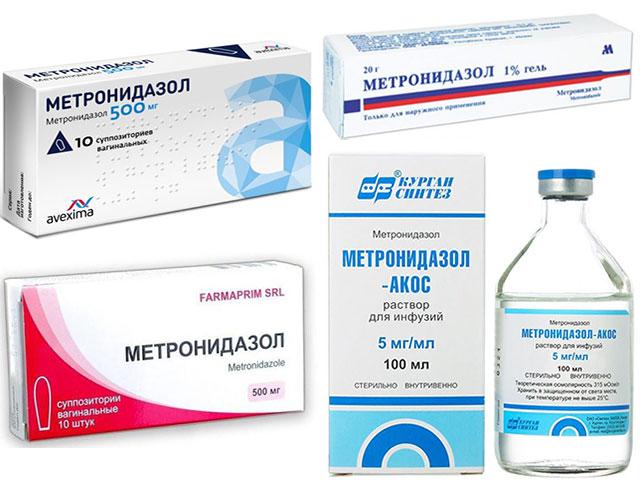 формы выпуска метронидазола