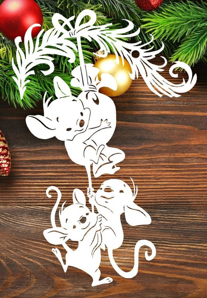 украшение окон на новый год из бумаги