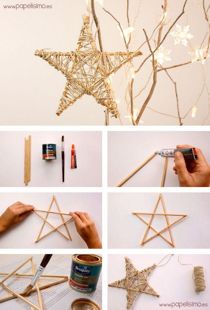 новогодние игрушки звезды своими руками
