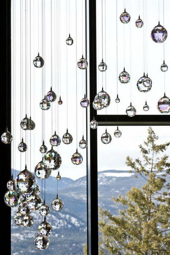 новогодние шары из кристалла