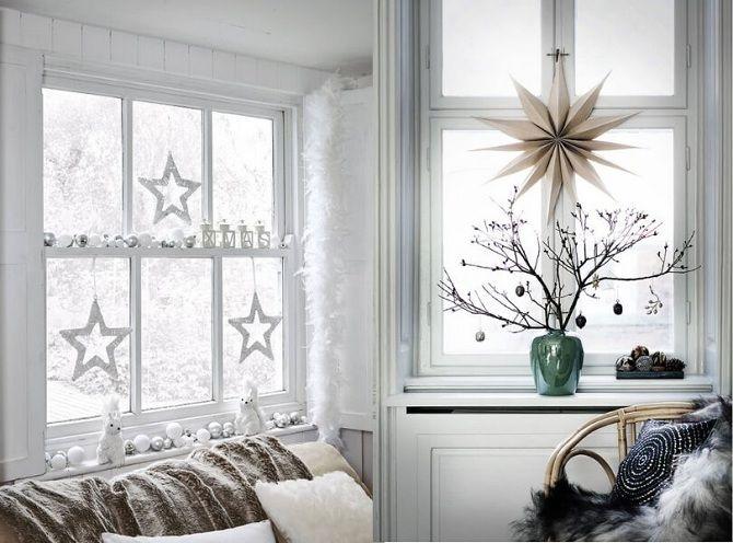 вытынанки на окна новогодние