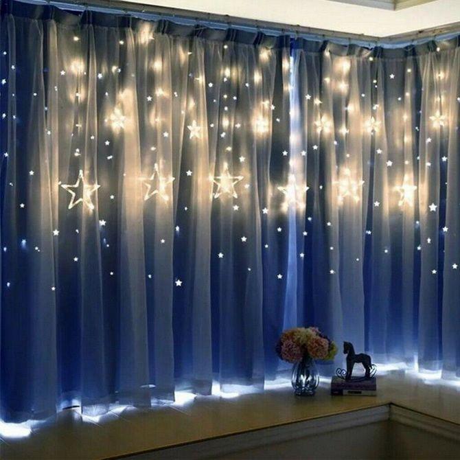 украсить окно к новому году необычные