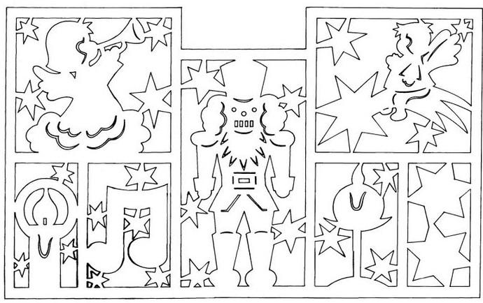 Новогодняя сказка 2020: рисунки, стикеры и наклейки на окна